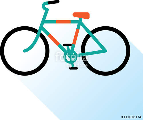 Drawn bike bicycle line #12