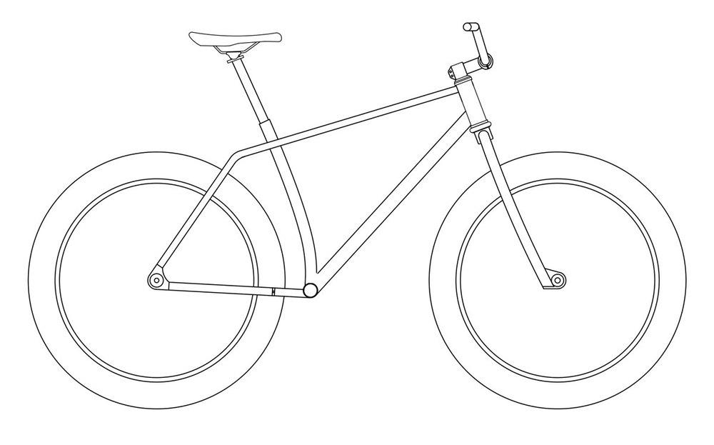 Drawn bike bicycle line #15