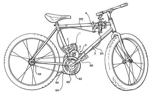 Drawn bike bicycle line #8