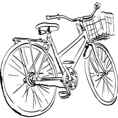 Drawn bike bicycle line #11