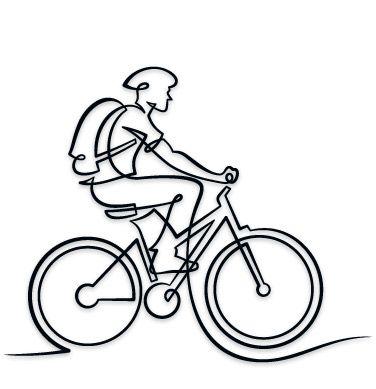 Drawn bike bicycle line #6