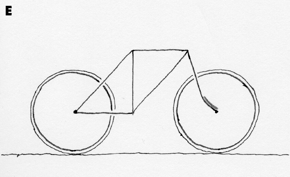 Drawn bike bicycle line #13