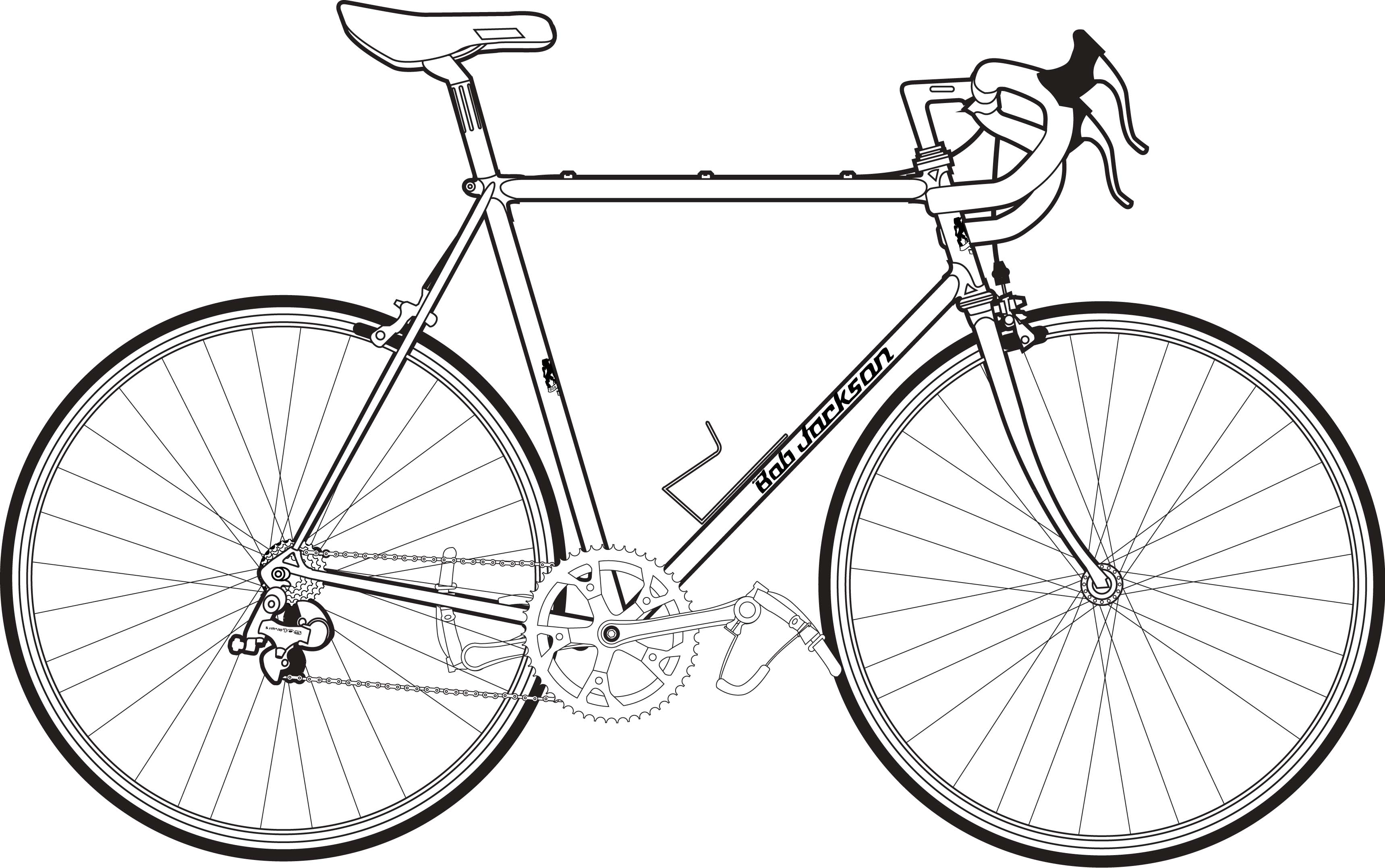 Drawn bike bicycle line #9