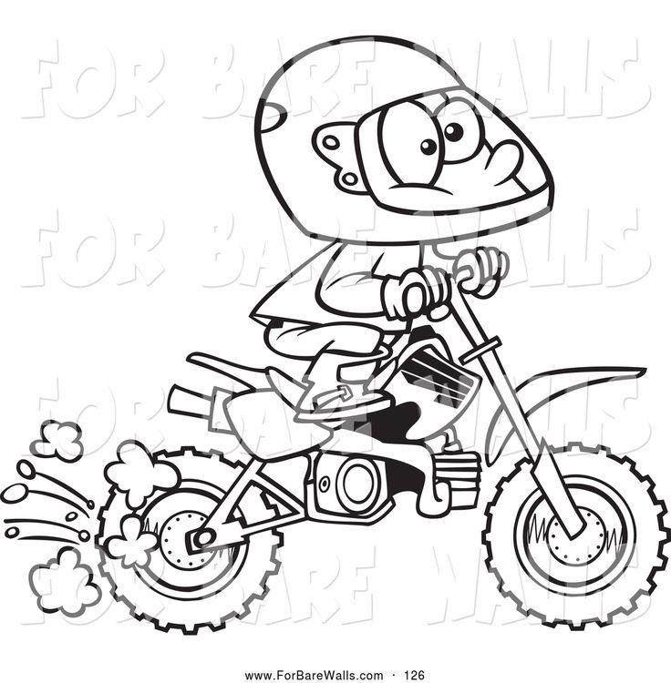 Drawn bike coloring page #13