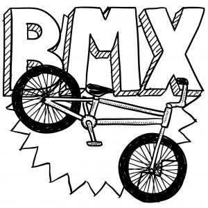 Drawn bike coloring page #4