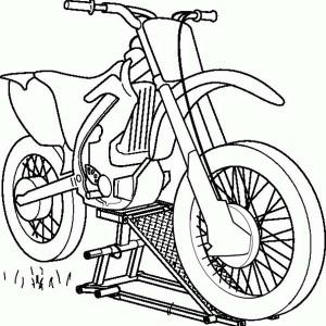 Drawn bike coloring page #5