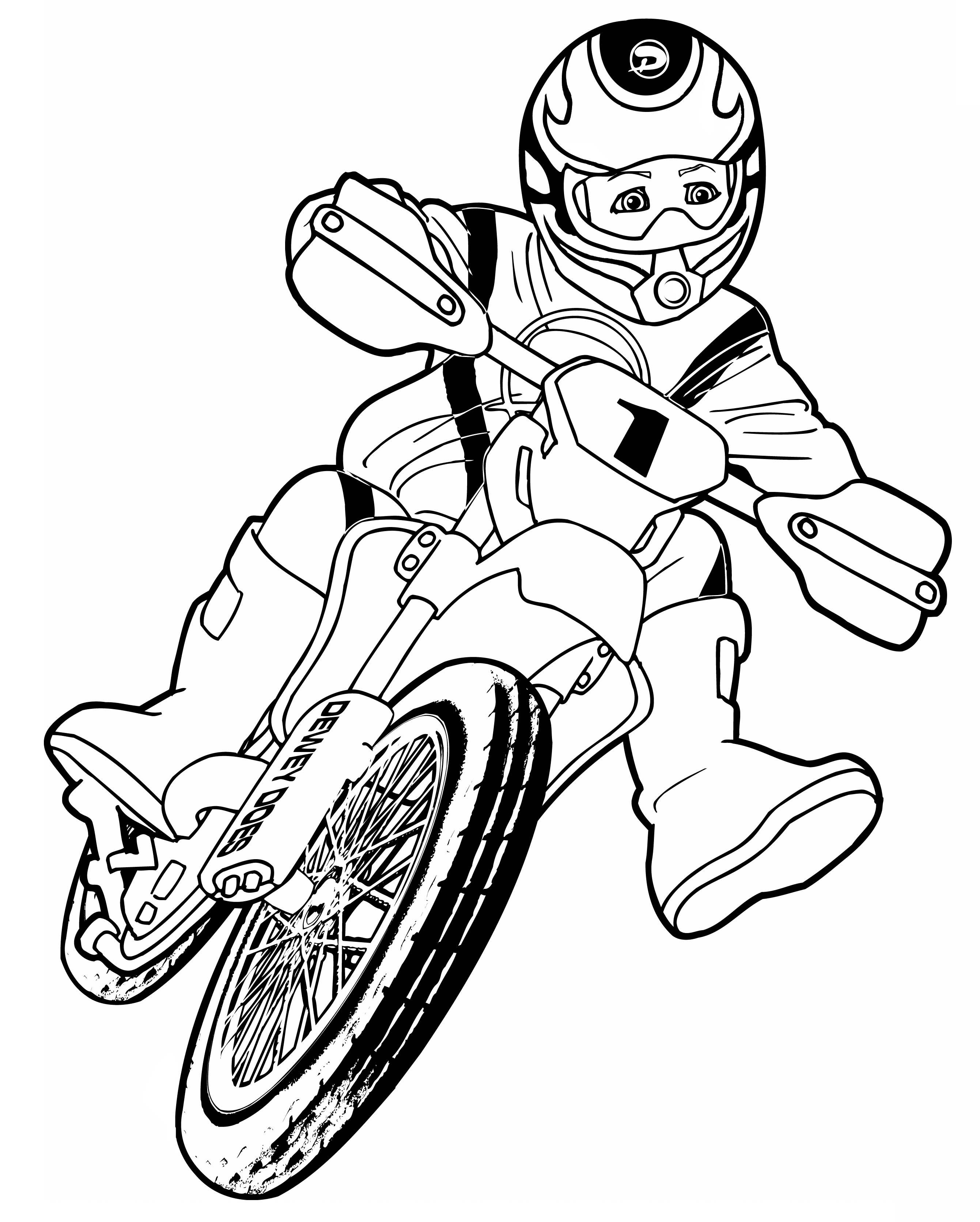 Drawn bike coloring page #3