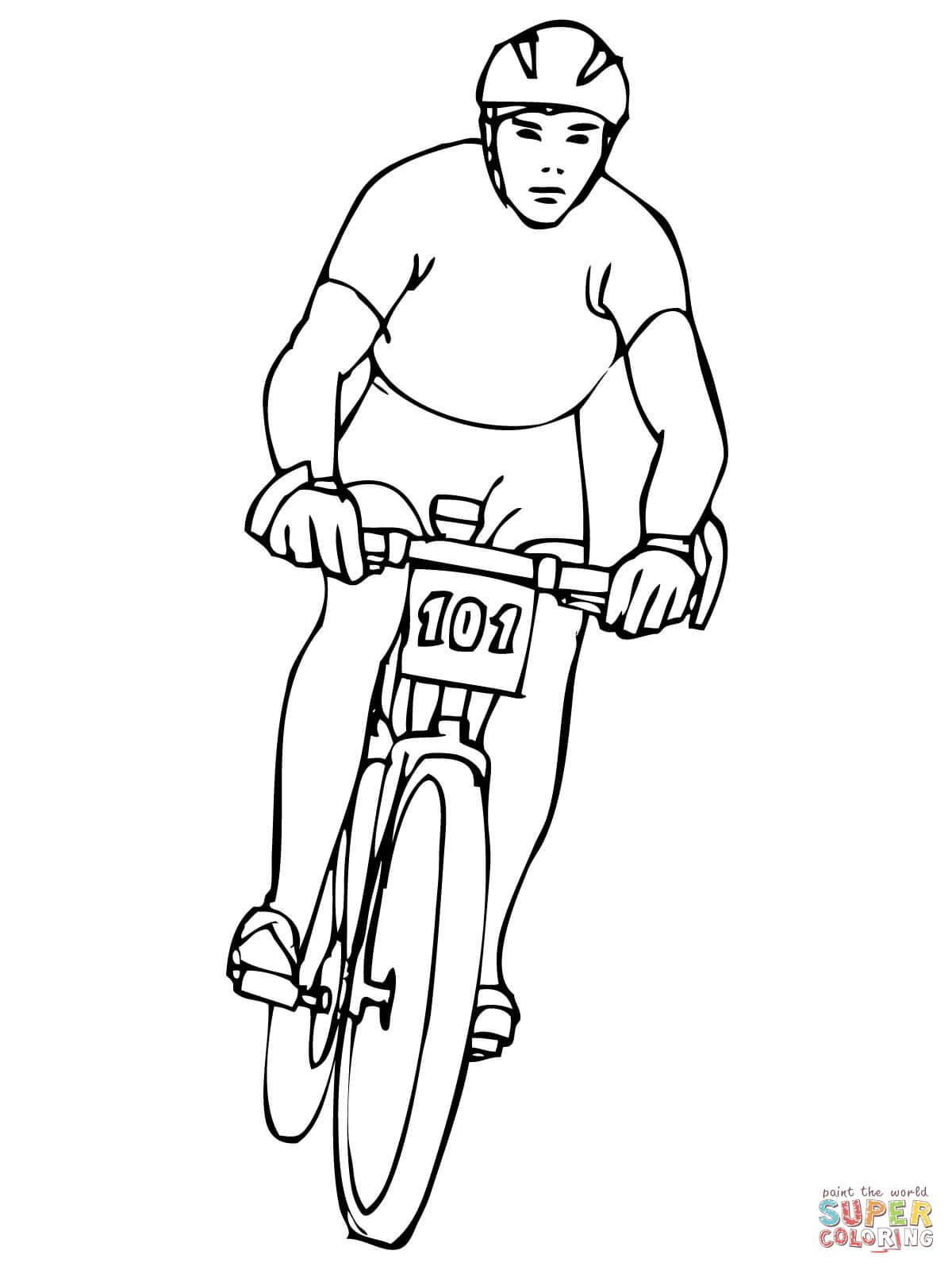 Drawn bike coloring page #15