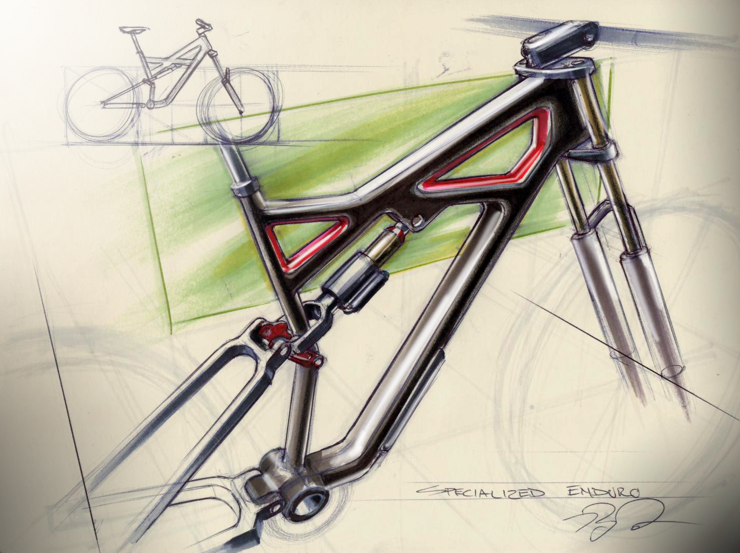Drawn bike creative #7