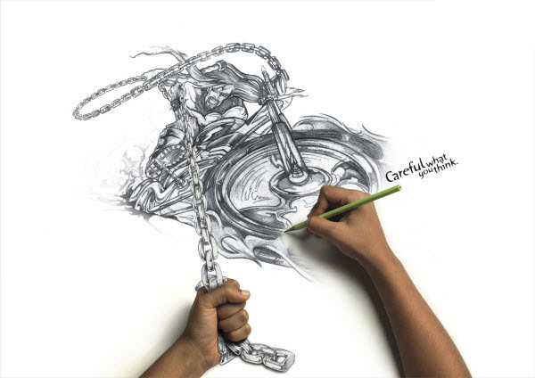 Drawn bike creative #8