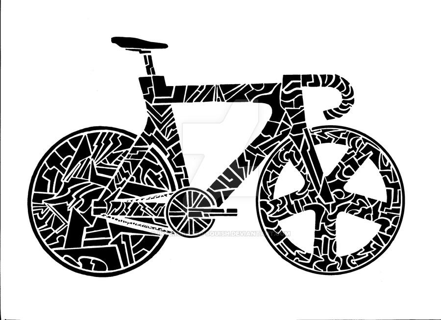 Drawn bike fixie #4