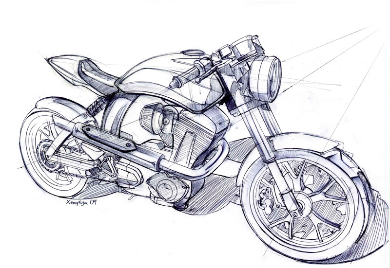 Drawn bike ktm #6
