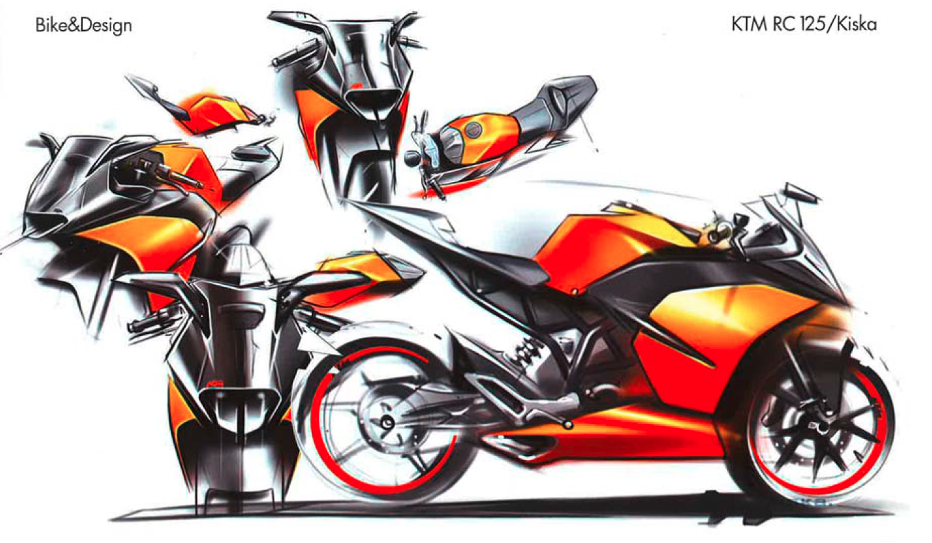 Drawn bike ktm #8