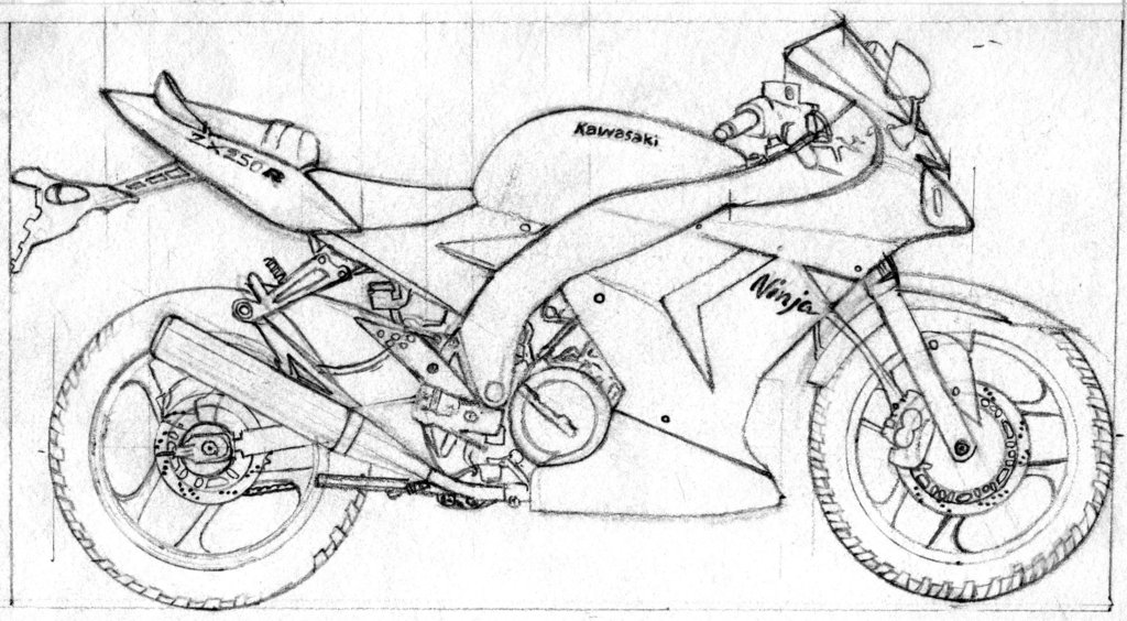Drawn bike ktm #7
