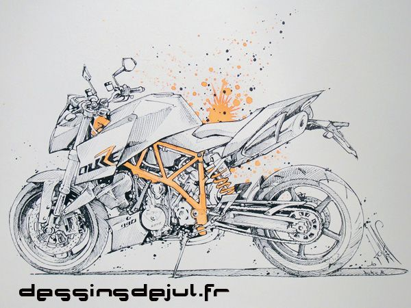 Drawn bike ktm #12