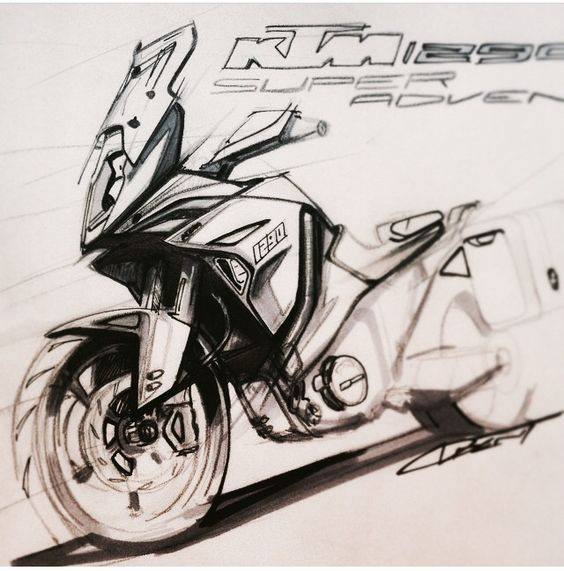 Drawn bike ktm #14