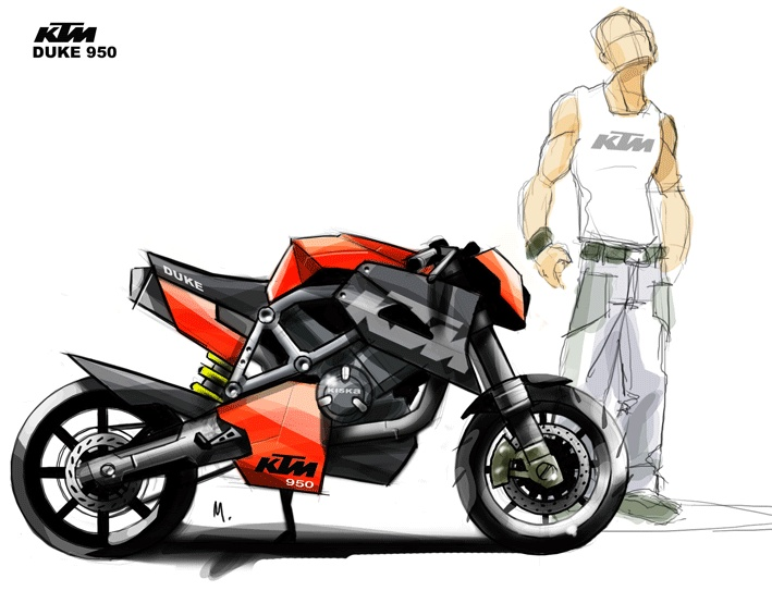 Drawn bike ktm #3