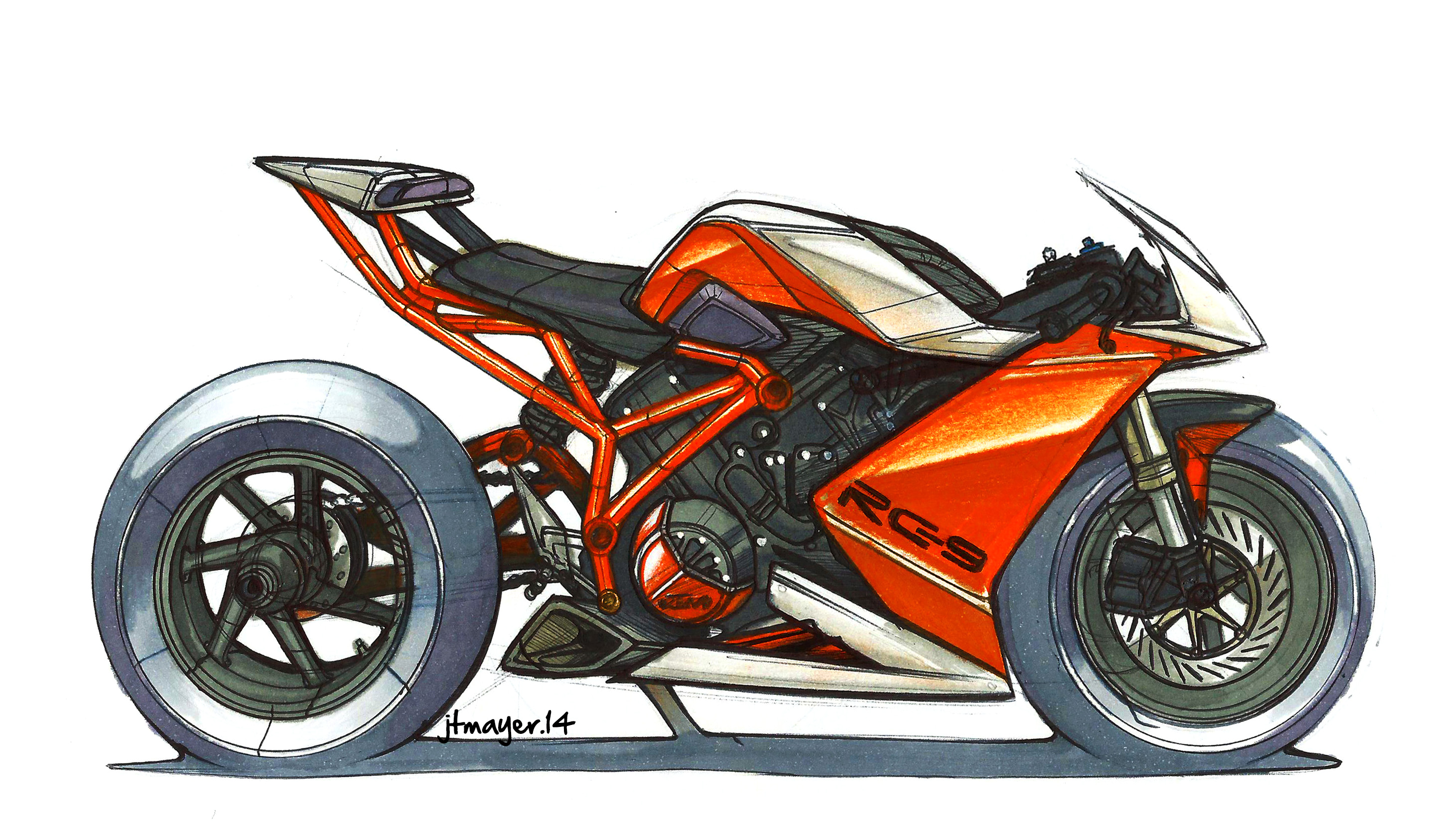 Drawn bike ktm #11