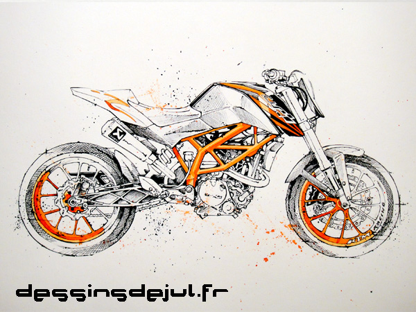 Drawn bike ktm #10