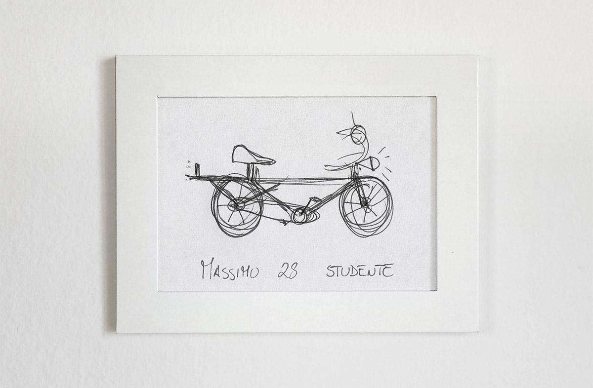 Drawn bike man made #4