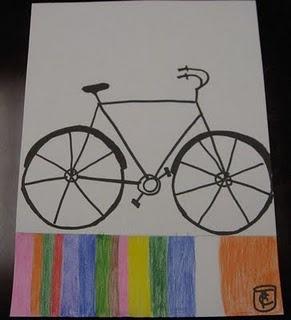Drawn bike man made #8