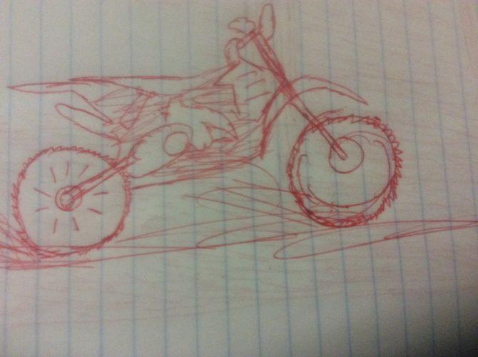 Drawn bike man made #12