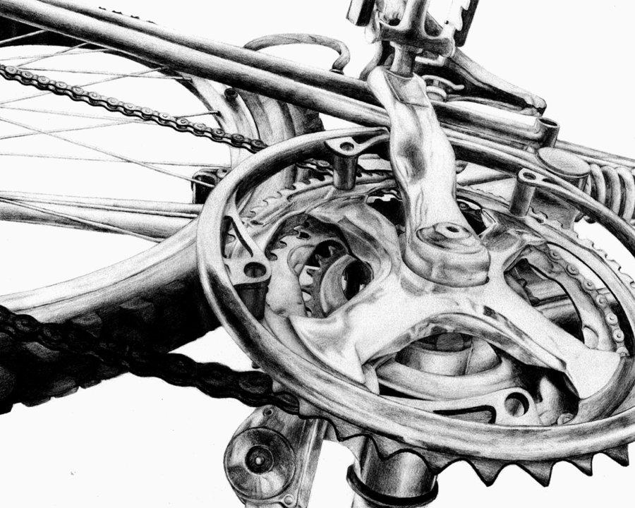 Drawn bike man made #14