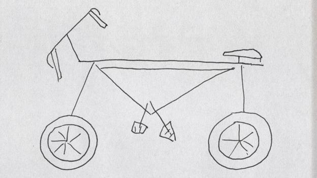 Drawn bike man made #15