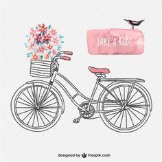 Drawn bike minimalist  background vintage Clip art
