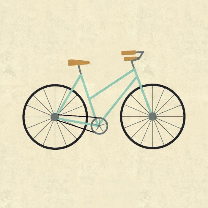 Drawn bike minimalist Minimalist best #Bicycle Sarah Posters