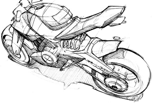 Drawn bike motor #10