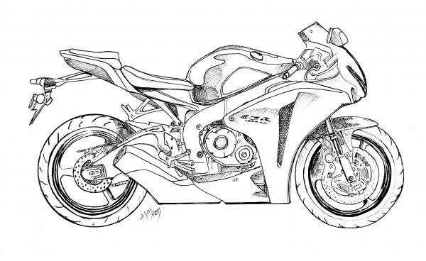 Drawn bike motor #2