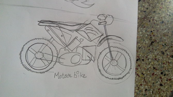 Drawn bike motor #8