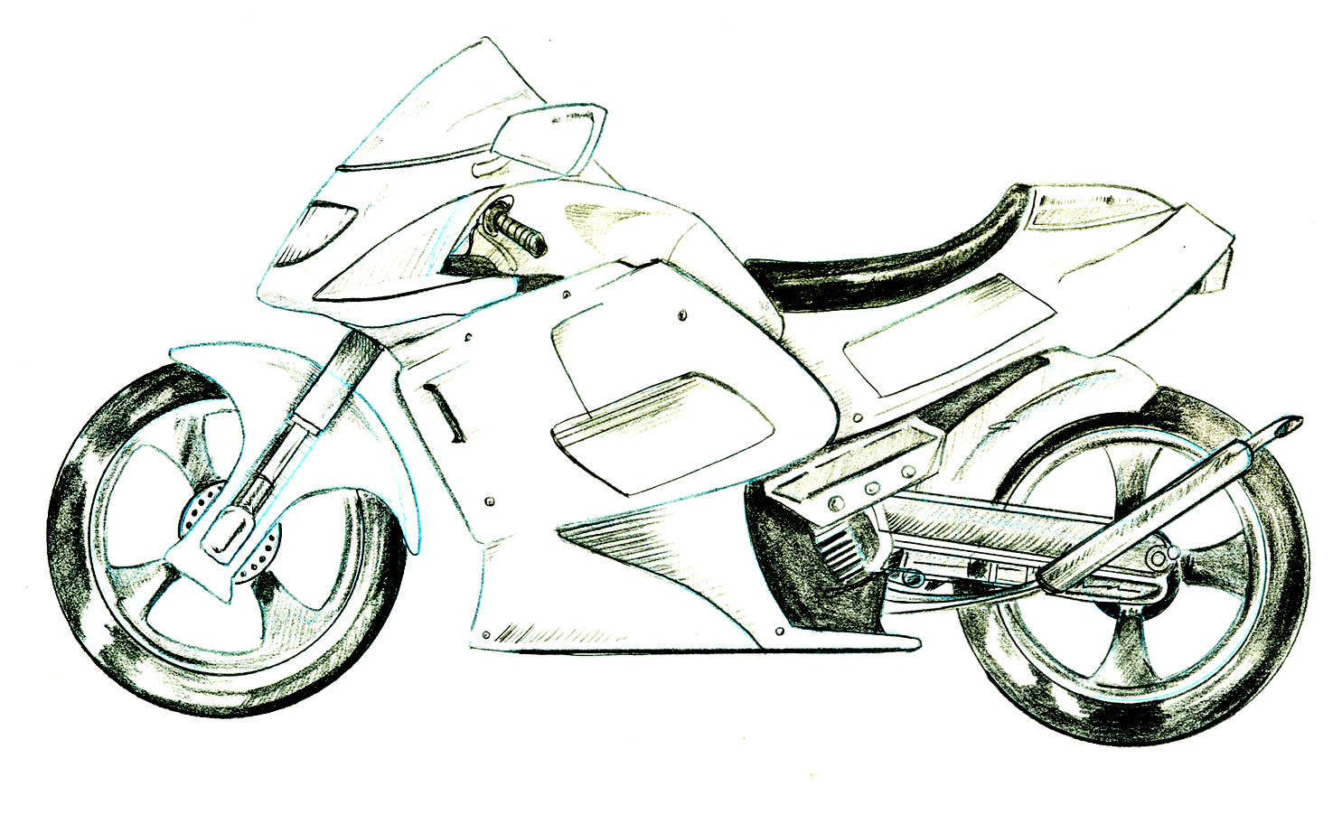 Drawn bike motor #4