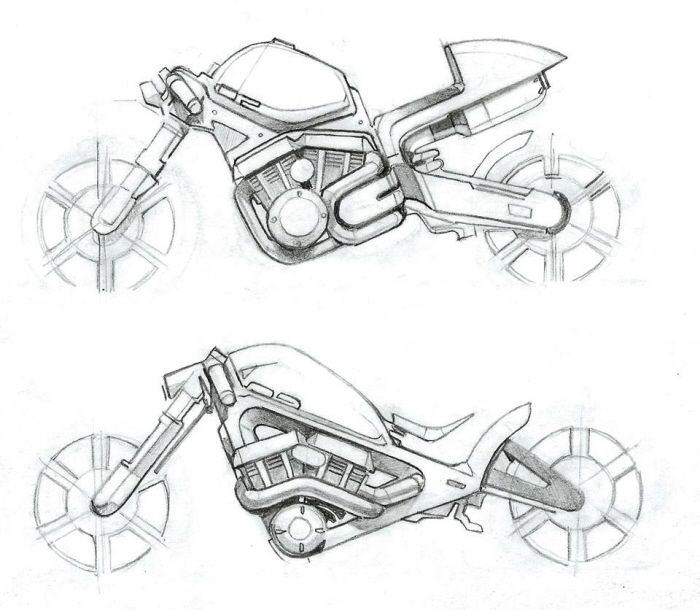 Drawn bike motor #15