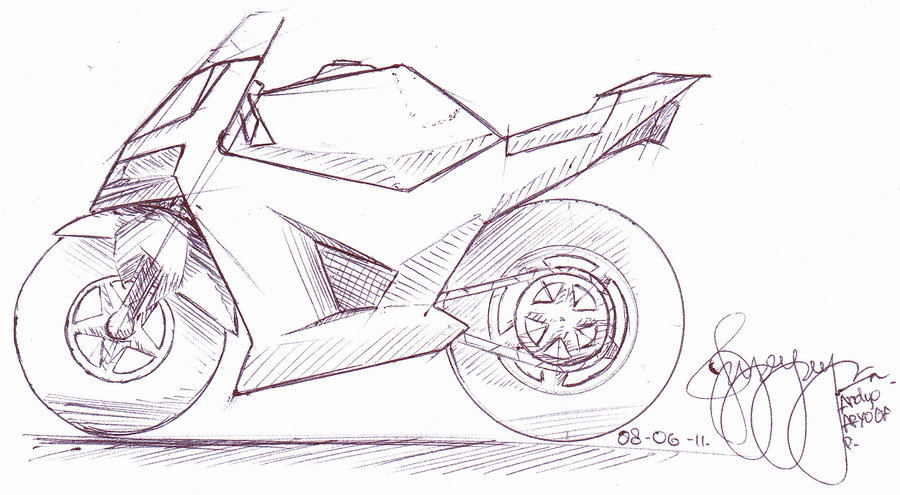Drawn bike motor #6