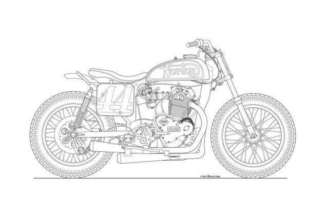 Drawn bike motorbike Motorcycle Photos: line Posters Drawings