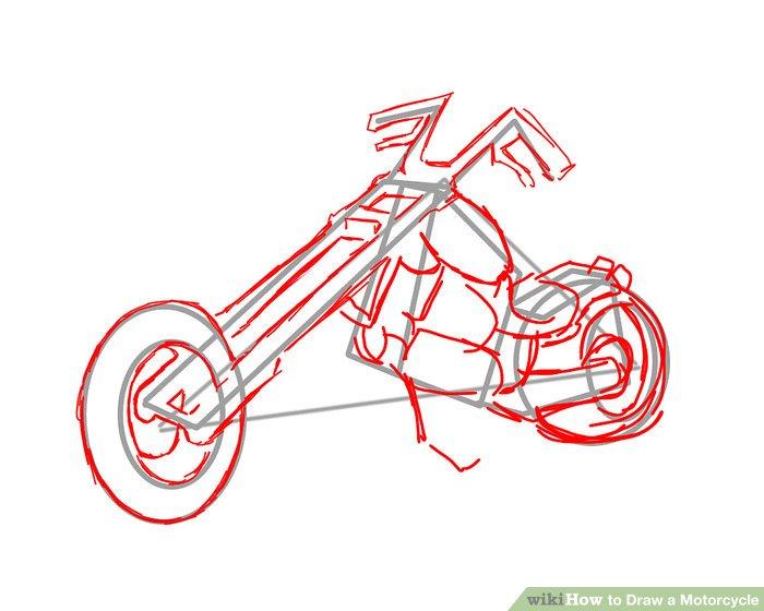 Drawn bike motorbike 4 Ways Motorcycle Motorcycle a