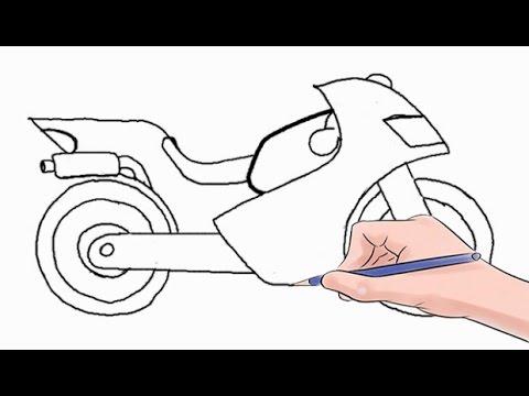 Drawn bike motorbike By YouTube Step a Step