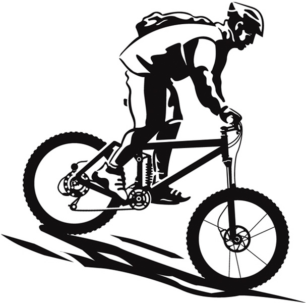 Bicycle clipart downhill Mountain Downhill biking Collection Clipart
