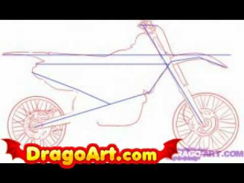 Drawn bike pit bike #14