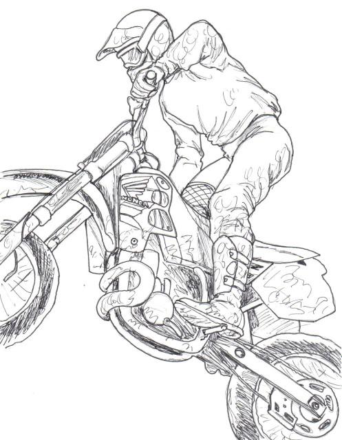 Drawn bike pit bike #8