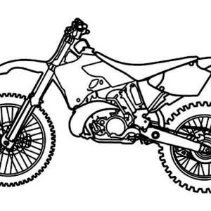 Drawn bike pit bike #12