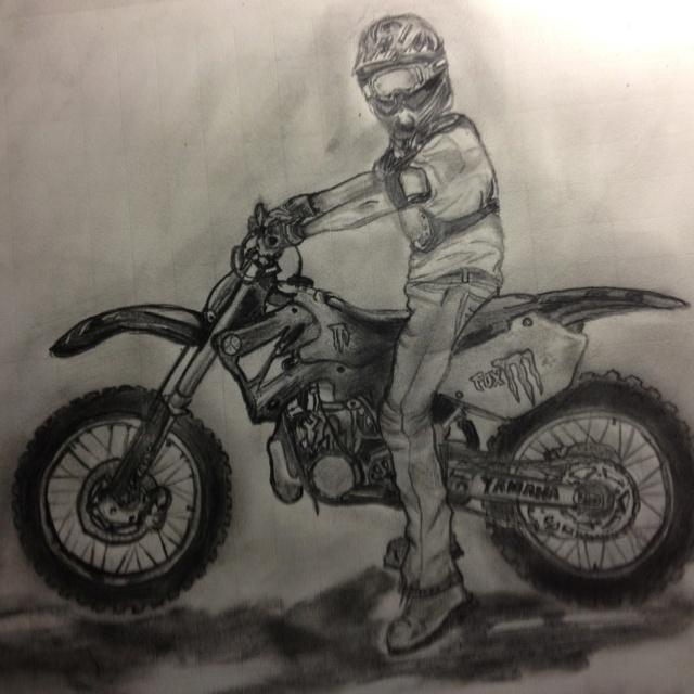 Drawn bike pit bike #9