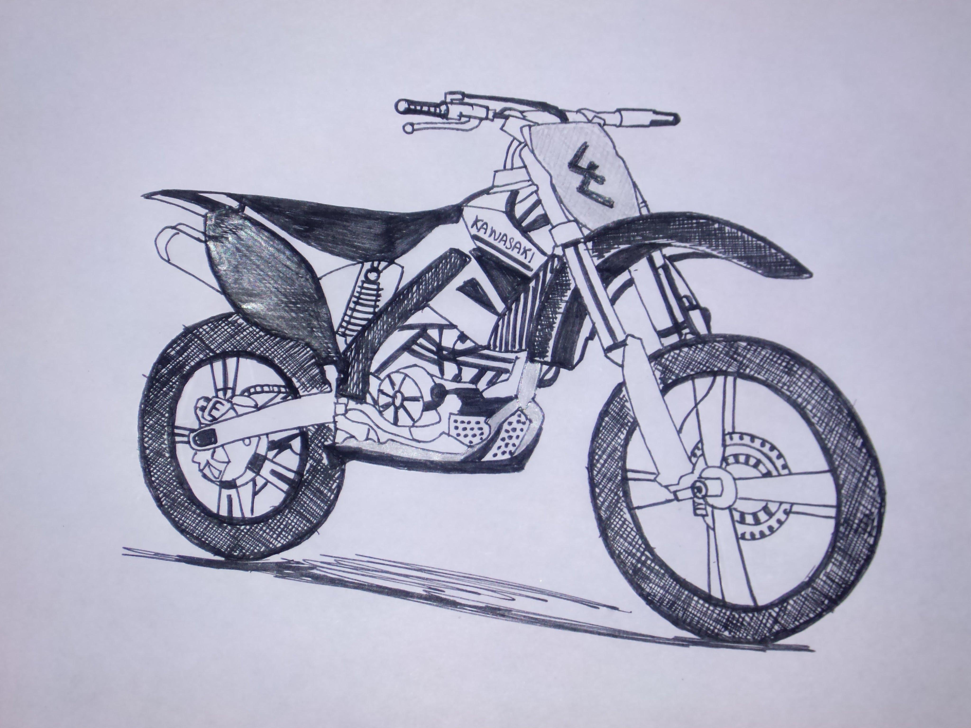Drawn bike pit bike #11