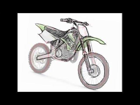 Drawn bike pit bike #1