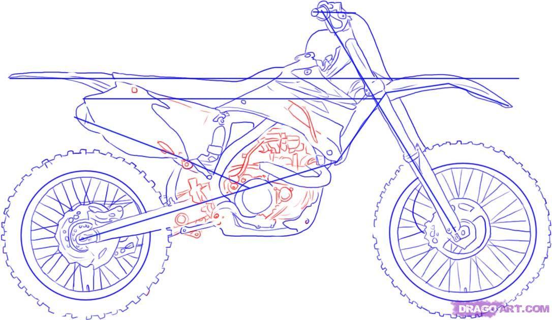 Drawn bike pit bike #3