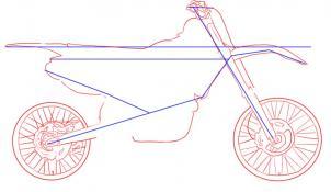 Drawn bike pit bike #5