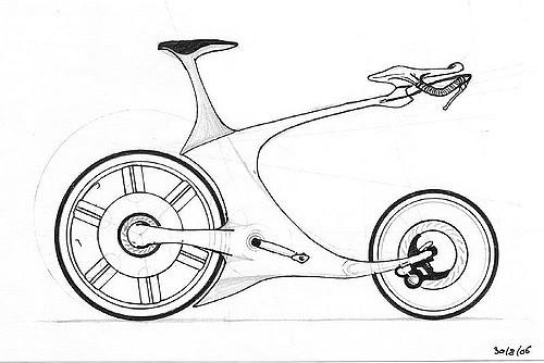 Drawn bike race bike #10
