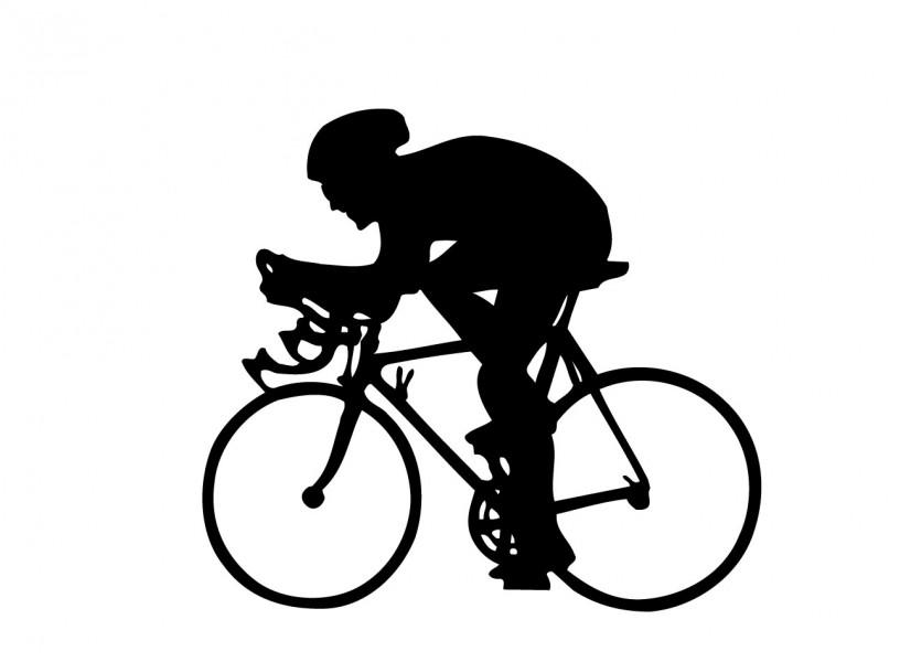 Drawn bike race bike #11